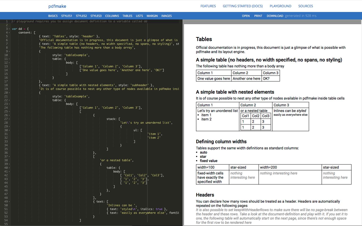 html2pdf css stylesheet templates